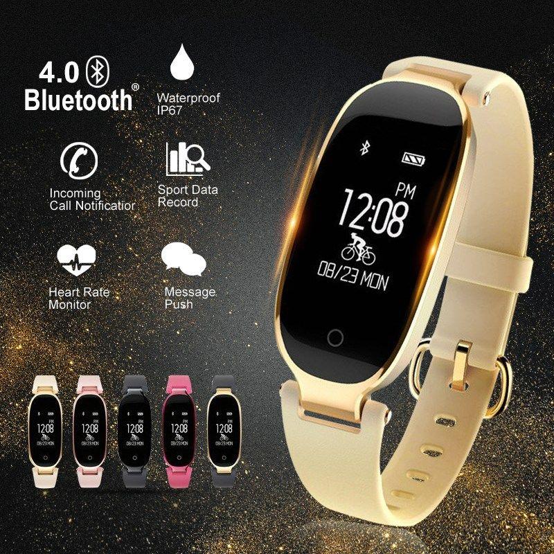 Compre Bluetooth À Prova D  Água S3 Relógio Inteligente Moda Feminina  Senhoras Monitor De Freqüência Cardíaca Smartwatch Relogio Inteligente Para  Android ... 83507eb438