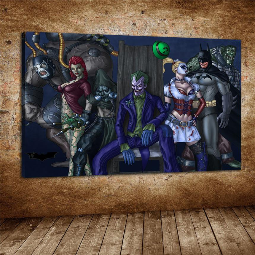 Großhandel Batman Arkham Asylum, Leinwanddrucke Wand Kunst Ölgemälde ...