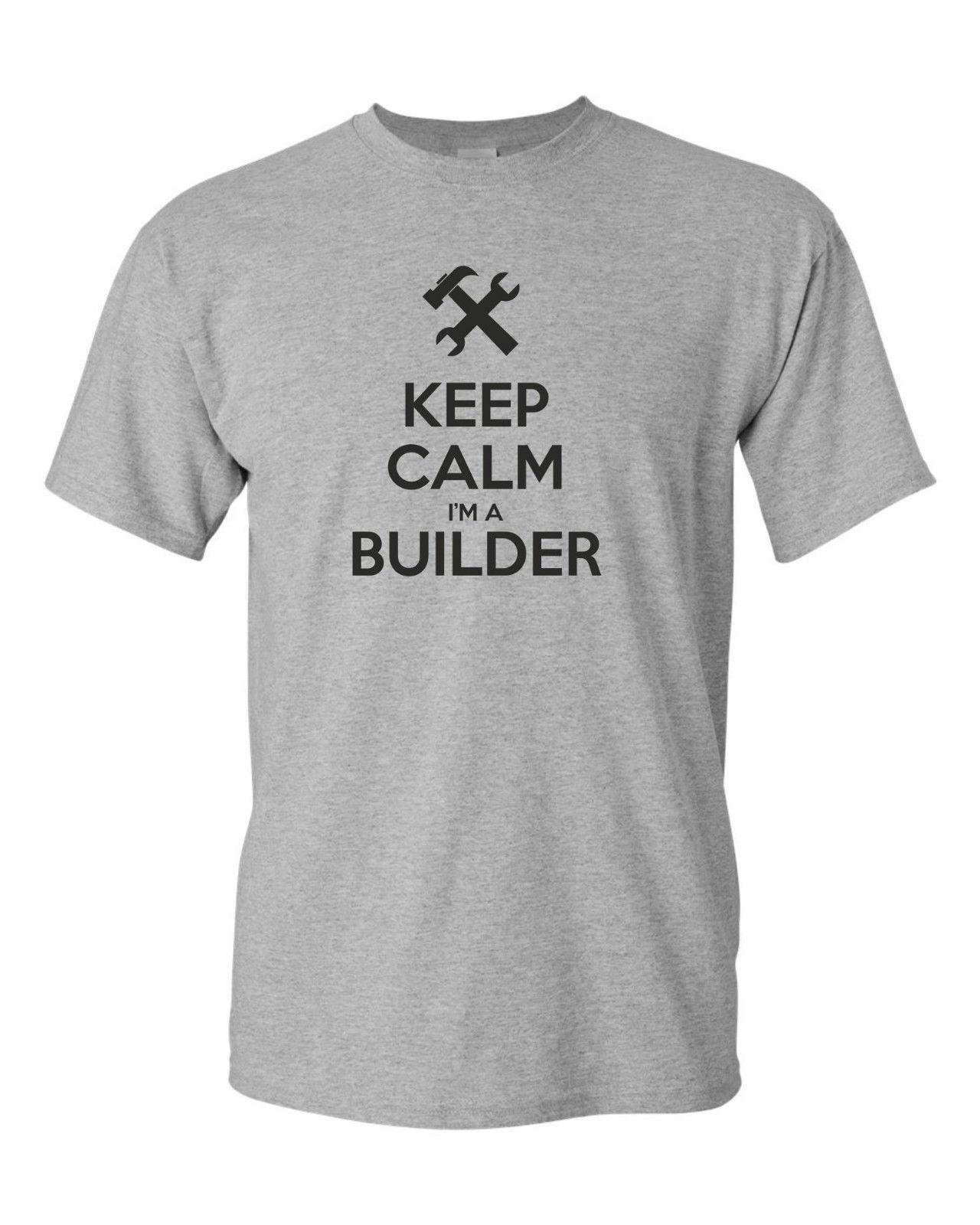 303aedd4c0 KEEP CALM BUILDER BUILD Construction Worker Funny Mens T Shirt Funny Unisex  Casual Tee Gift Offensive Shirts Ringer T Shirts From Elite_direct, ...
