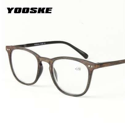 659343bacd Compre YOOSKE Imitación De Plástico Gafas De Lectura De Grano De Madera  Hombres Mujeres Presbyopia Diopter 1.0 1.5 2.0 2.5 3.0 3.5 4.0 Gafas Para  Leer A ...