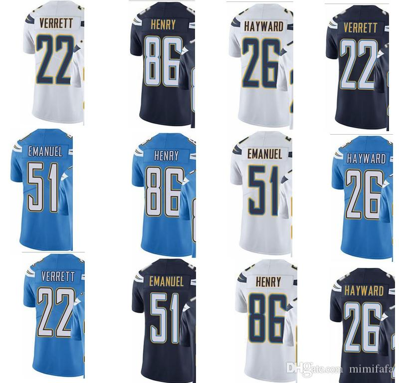 2019 Chargers 22 Jason Verrett 26 Casey Hayward 86 Hunter Henry Men Women  Youth San Diego Color Rush Elite Football Jersey From Topjerseys01 a3a281a58