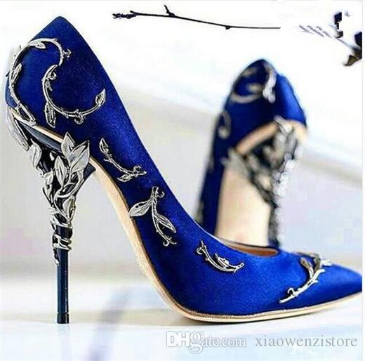 180baad1fc Newest Ornate Filigree Leaf Pointed toe Haute Couture Collection SHOES eden  heel wedding pump Super sexy women high heel shoes