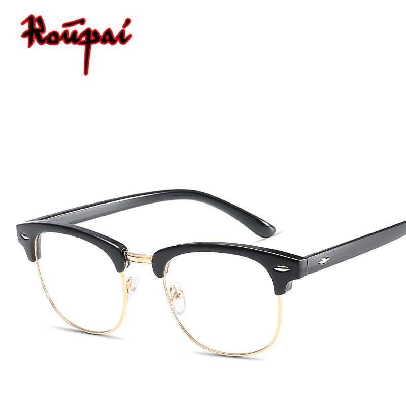 6e3b37cbdd 2018 High Quality Hipster Eye Glasses Frames For Women Men Optical Clear  Lens Transparent Eyewear Fake Eyeglasses Gozluk Oculos Canada 2019 From  Hoganr