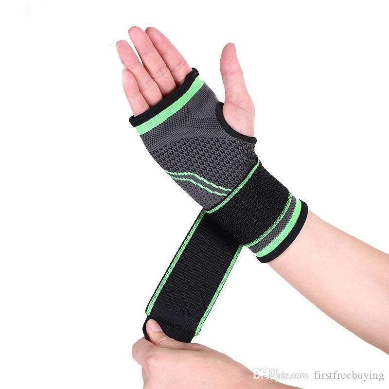 1 Pc/Lot Training Sports Splint Wristband Thumb Support Weightlifting Wrist Protector Hand Brace Guards for Gym Outdoors