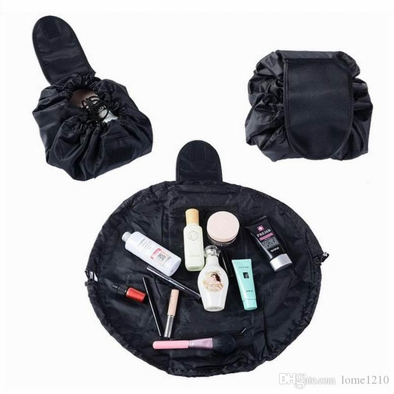 e6a8a8e14606 2019 Cosmetic Bag Professional Drawstring Makeup Case Women Travel Make Up  Organizer Storage Pouch Toiletry Wash Kit From Lome1210