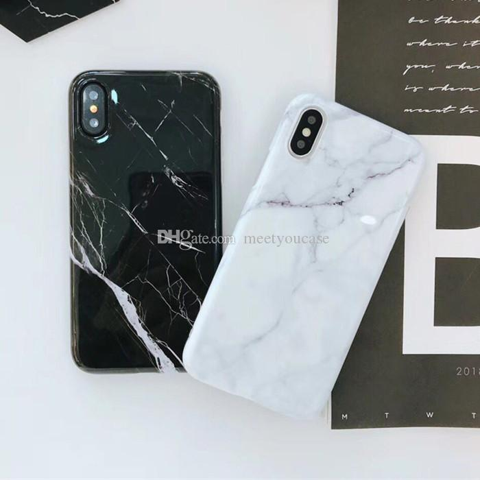 pretty nice 6253f 7c0ca Classic Black White Marble Phone Case For iphone X Case For iphone 6S 6 7 8  Plus Retro Fashion Cover Soft Smooth Cases Capa
