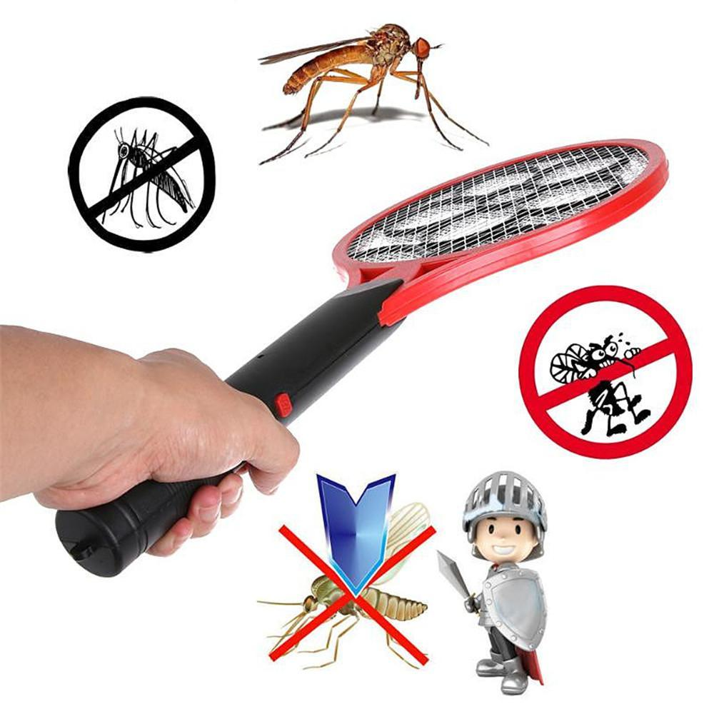 Bug Zapper Electric Fly Swatter Mosquito Dry Cell Hand Racket Safe Electric  Swatter Home Garden Outdoor Pest Control Free Shipping NB