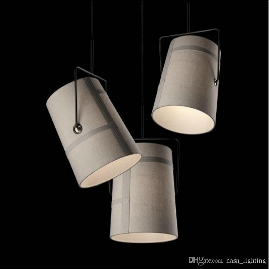 R7s 100w home foscarini diesel fork pully ivory cloth shade pendant light lamp suspension lighting fixture for living room dining room track lighting