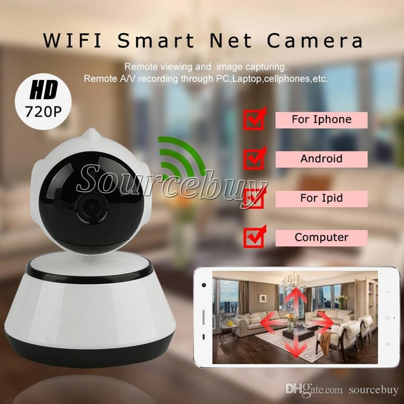 V380 HD 720P IP Camera WiFi Wireless Smart Security Camera Micro SD Card Slot Network Rotatable Defender Home Telecam HD CCTV IOS PC