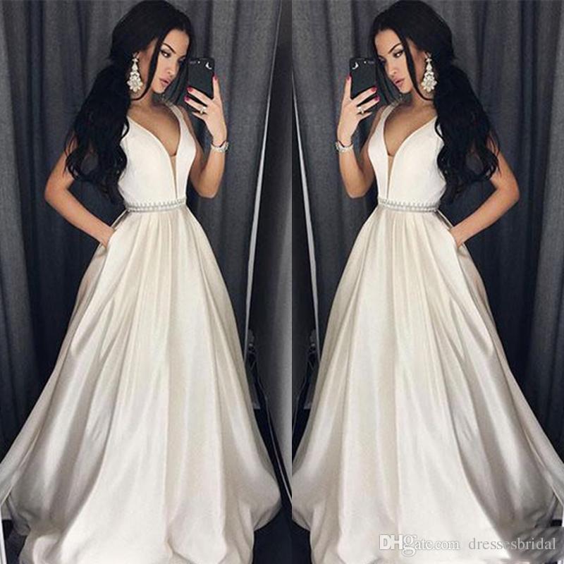 Elegant Plus Size Prom Dresses A-Line Floor-length Long Formal Dress Evening Gown Beads Sash Robe De Soiree