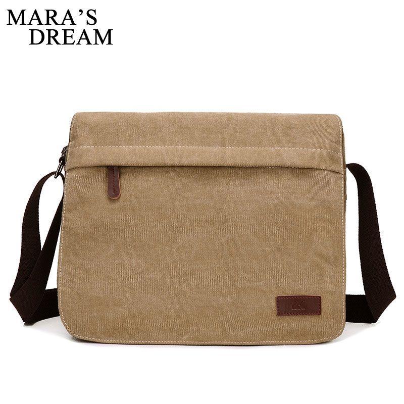 c890957af1 Mara S Dream 2018 New Canvas Bag Men Casual Travel Crossbody Bag Solid Big  Capacity Male Men S Shoulder Messenger Handle Hobo Purses Leather Bags For  Women ...