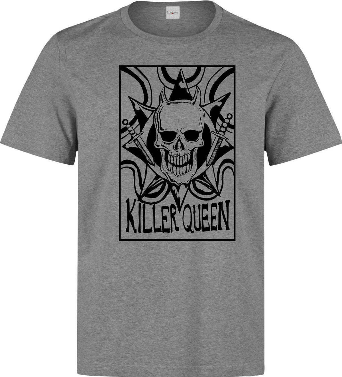 Jojo s Bizarre Adventure Diamond Is Unbreakable Killer Queen men s t shirt  grey