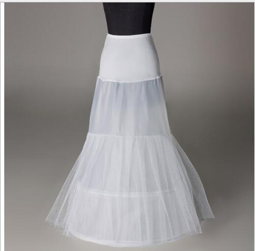 Marfim branco 1 Hoop Tule Sereia Das Mulheres Anágua Deslizamento Para O Vestido De Casamento Nupcial Stretchy Lady Underskirt Crinolina Festa Formal Completa À Noite