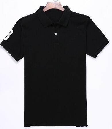 b840a36d8e22e Compre Camisa Polo Clásica Americana Con Gran Caballo De Algodón Polos  Deportivos Camisa EE. UU. Polo Sólido Blanco Negro Rojo M XXL A  20.42 Del  ...
