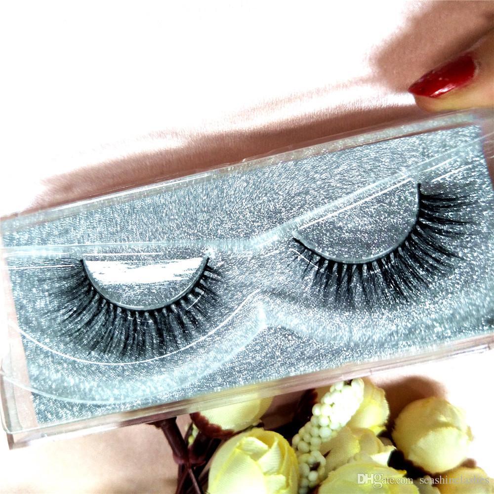 Seashine Lashes Luxury 100% hecho a mano en 3D pelo de visón Belleza gruesa larga Falso visón pestañas falso ojo pestañas de alta calidad pestaña P2