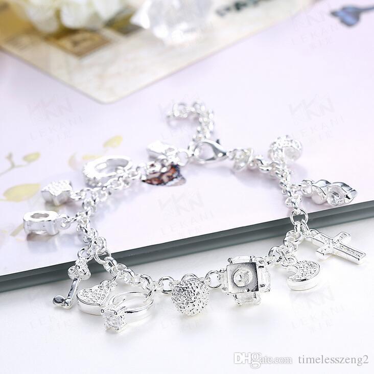 Elegant shape women pendant bracelet polishing ring key stra bracelet bracelet girl nice gift wholesale free ship