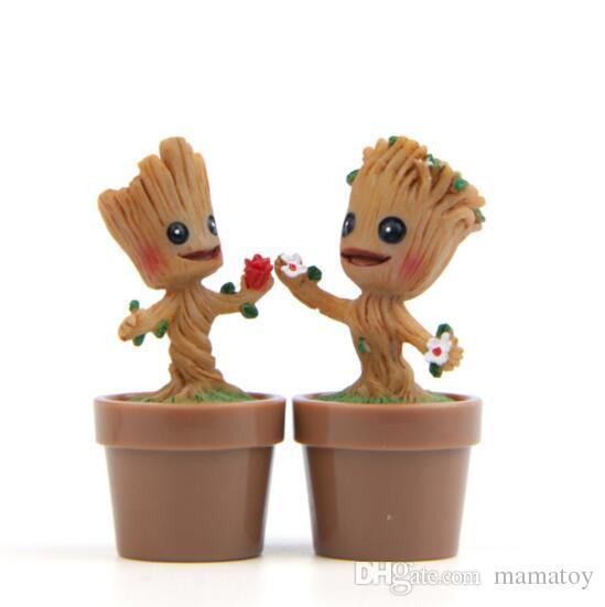 Baum Mann Groot Anime Figur Geschnitzte Holz Sprites Action-figuren Sammeln Spielzeug PVC Beste Geschenk für Kinder