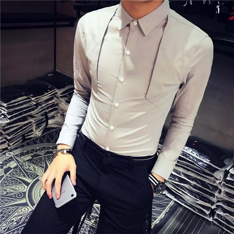 Hemden Herrenbekleidung & Zubehör Hohe Qualität Solide Alle Spiel Shirt Männer Marke Neue Slim Fit Lässig Sozialen Shirts Männer Kleidung 2019 Langarm Formale Tragen Smoking Schnelle Farbe