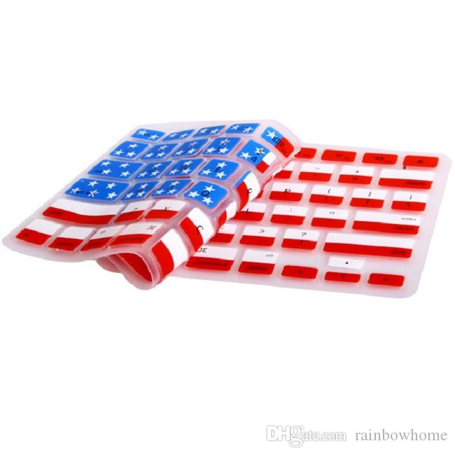 Silicone US Canada Australia UK Flag Keyboard Cover Keypad Skin Protector For Apple Mac Macbook Pro 13 15 17 Air Retina 13 US