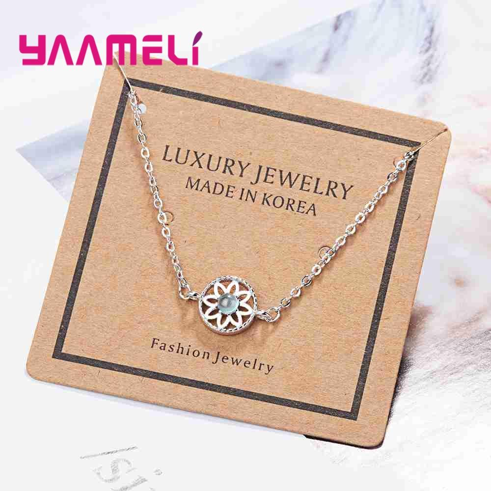 YAAMELI Elegant 925 Sterling Silver Bracelet Bangles For Women Pretty  Birthday Gift Hollow Stamp Wedding/Engagement Accessories