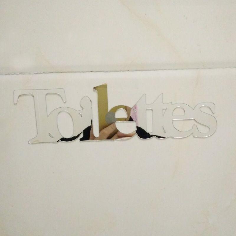 Großhandel 3d Spiegel Aufkleber Toiletten Namen Lustige Wc Eingang