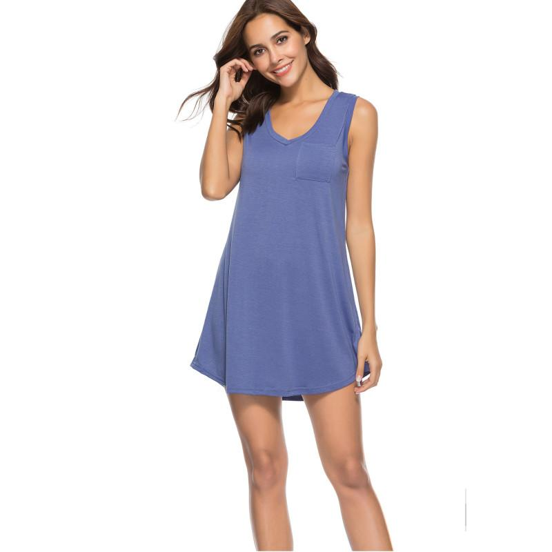 7e579d420cda Women Mini Casual Dresses V Neck With Pocket Ladies Summer Sleeveless  Irregular T Shirt Dress Fashion Dress Styles For Ladies Women Floral Dresses  From ...