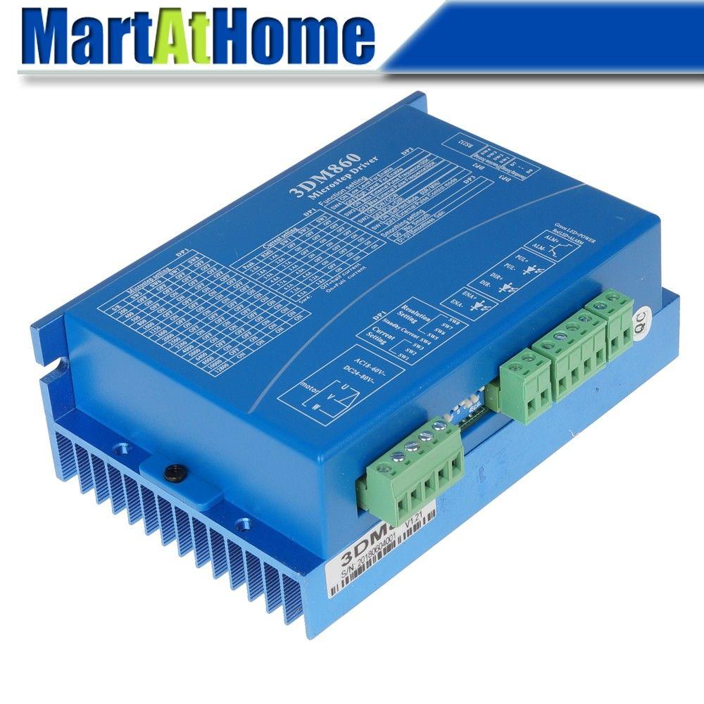 CNC 3-Phase Digital Stepper Driver 24~80VAC 30~100VDC 7 5A 20KHz PWM 200K  Micro Steps 12800 Support PUL/DIR & CW/CCW #SM669 @SD