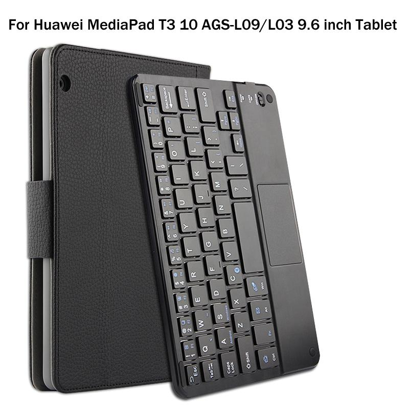 45f1f4599b2 For Huawei MediaPad T3 10 AGS L09 L03 9.6 Inch Tablet Magnetically  Detachable ABS Bluetooth Keyboard PU Leather Case Cover +Gift Cheap Tablet  Cases 7 Inch ...