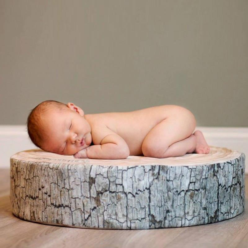 Hot sellers tree slice posey pillow newborn rustic newborn posing prop wood slice poser pillow photo prop infant kit squishy pillow decorative pillows for
