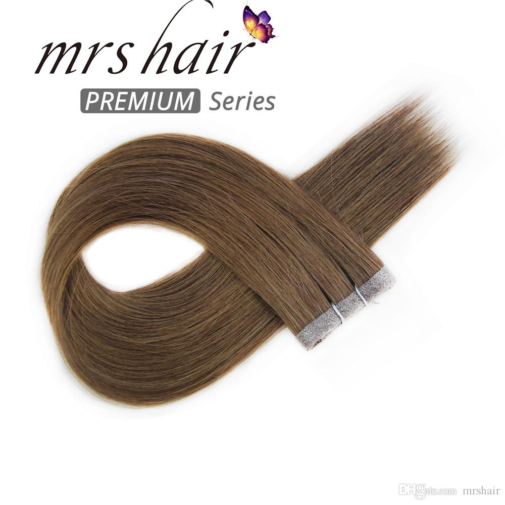 Mrs Hair 20 Pu Shin Weft Hair Extensions Thick And Full Ends Tape In