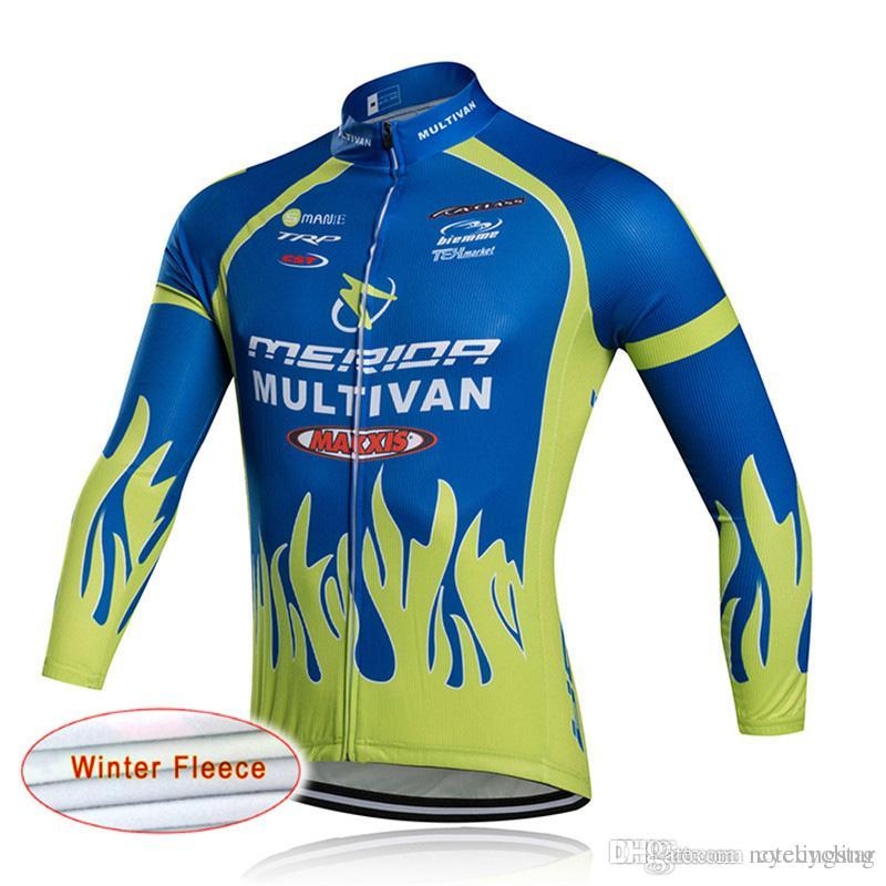 84e024f92 Pro Team Merida Tour De France Cycling Jersey Winter Men s Long Sleeve  Thermal Fleece Jacket Outdoor Bike Sportswear Ropa Ciclismo C030 Merida  Cycling ...