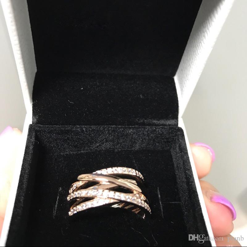 100 % 925 스털링 실버 반지 큐빅 지 르 콘 원래 상자 판도라 패션 반지 발렌타인 데이 유럽 스타일 쥬얼리에 대 한