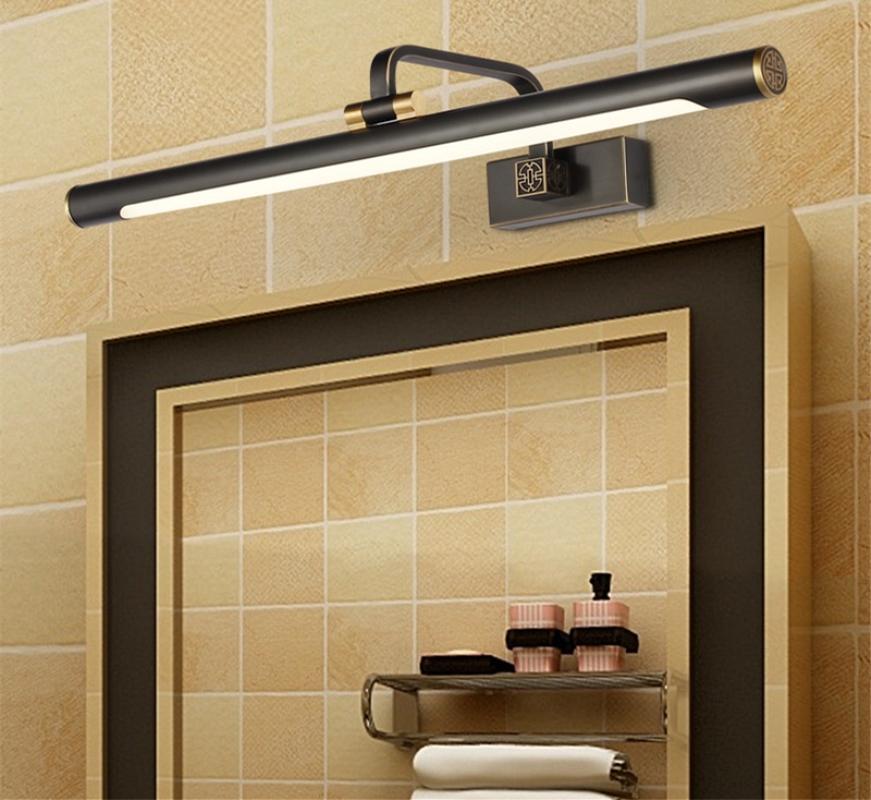 2018 43cm/57cm/76cm Bathroom Mirror Lamp Waterproof Retro Dumbblack ...
