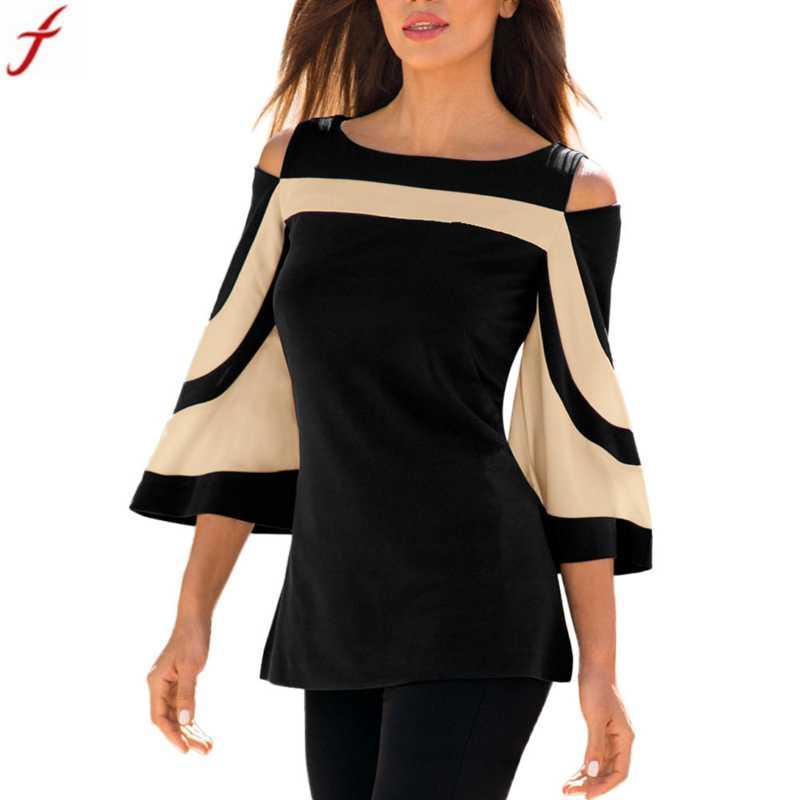 ef513289049e6f 2018 Spring Women Cold Shoulder Shirt Long Sleeve Pullover Tops Blouse Shirts  Women Clothing Blusas Mujer De Moda Blouse Shirt Women Blusas Mujer Shirt  ...