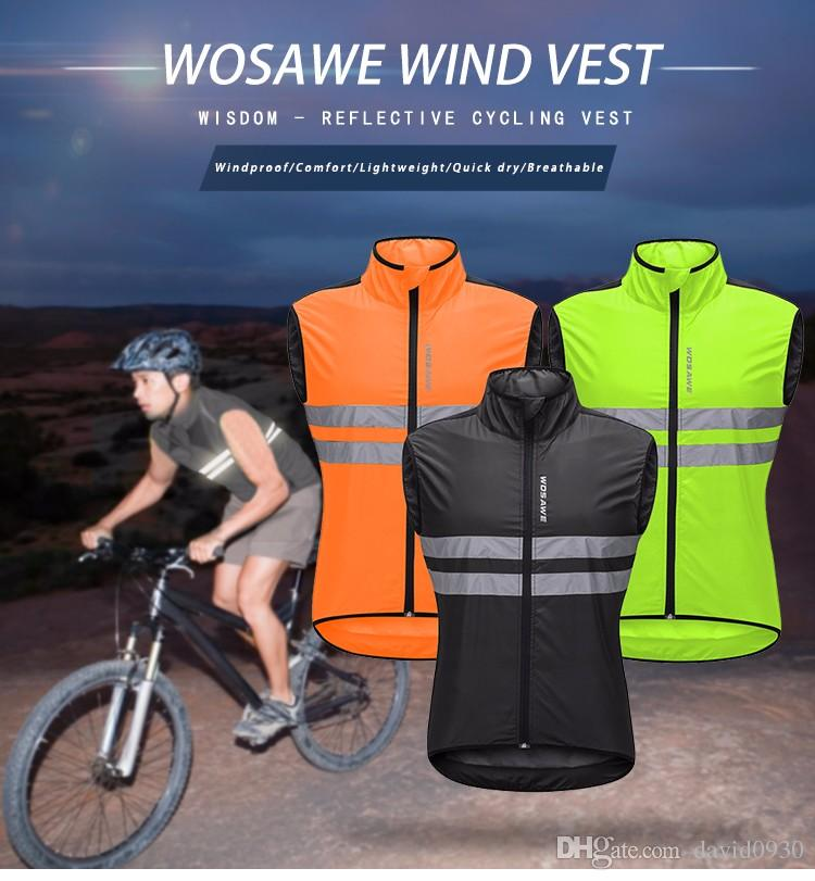 WOSAWE High Visibility Cycling Vest Safety Reflective Vest Night Riding  Protect Jacket Pocket Breathable Motorcycle Bicycle Vest Jacket Online Best  Cycling ... 6c15f52c7
