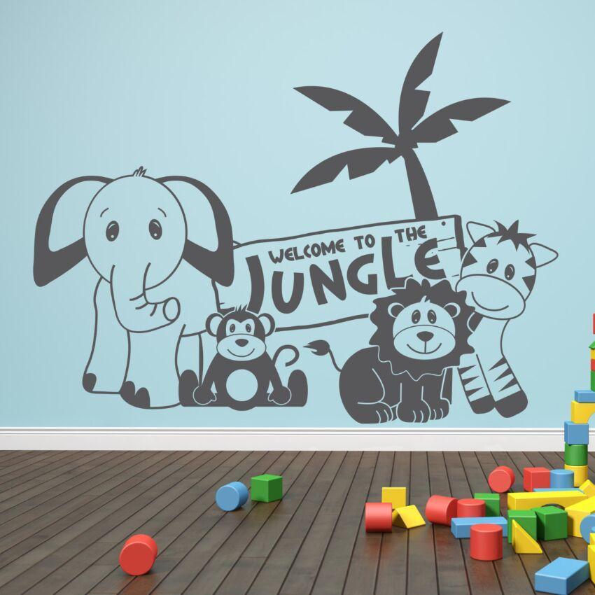 Grosshandel Kinderzimmer Dschungel Schlafzimmer Wandaufkleber Baby