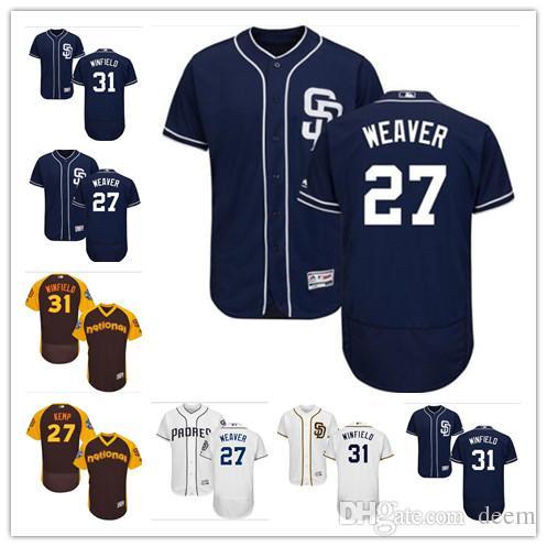 b813c7e022d Custom Men Women Youth Padres Jersey  27 Matt Kemp 31 Dave Winfield ...