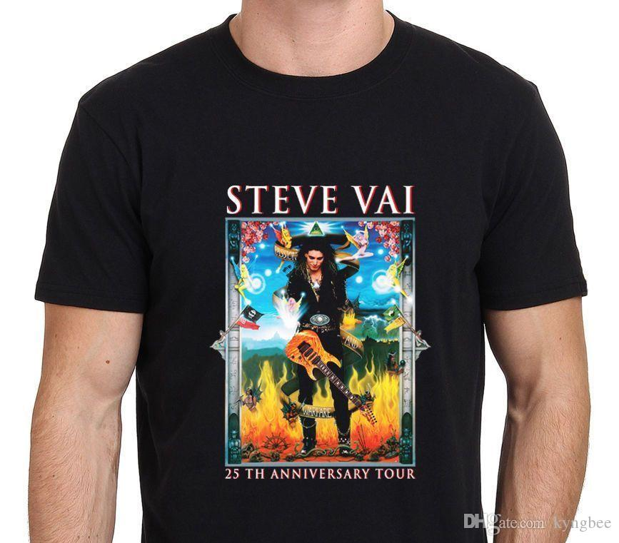 06b5fa1b Steve Vai Guitarist 25th Anniversary T Shirt Novelty T Shirt Funny Printed  T Shirts From Kyngbee, $10.72| DHgate.Com