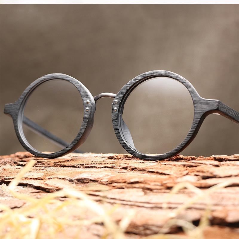63c54b1e7c2 2019 Fashion Wooden Eyeglasses Frame For Men UltraLight Round Frame Vintage  Imitation Wooden Optical Bamboo Glasses Women Oculos Male From Zeipt