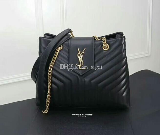05dbf69613 2019 Wholesale New Style High Qualuty Genuine Leather Women Fashion Handbag  Loulou Large Shopping Bag Shoulder Bag Beach Bags Duffle Bags From Sfgai,  ...