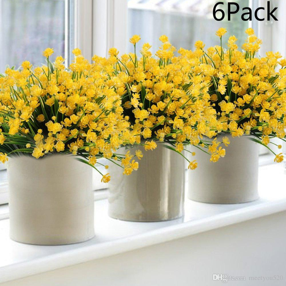 2018 6pack artificial flower fake daffodils yellow fake flower 2018 6pack artificial flower fake daffodils yellow fake flower greenery shrubs plants plastic bushes indoor outside decor from meetyou520 1103 dhgate mightylinksfo
