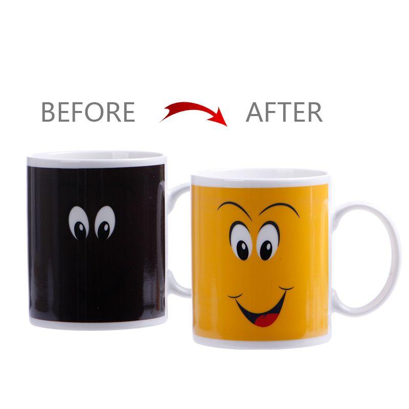 301-400ml 별자리 커피 잔 스타 로그인 매그컵 컵 색상 변경 차 커피 워터 컵 쿨 열 변화 컬러 세라믹 컵 WX9-528