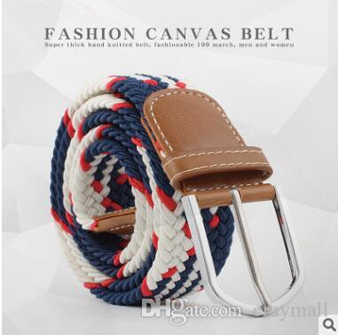 Extended stretch elastic canvas Woven belts waistband belt for men and women 19 colors can choose