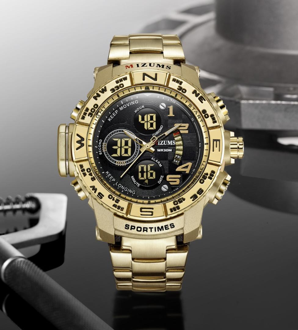 1b206bc8d0f4 Compre Marca De Lujo De Oro De Cuarzo Relojes De Acero Reloj Multifuncional  De Los Hombres Reloj De Pulsera A Prueba De Agua Relojes Hombre Horloge A   65.46 ...