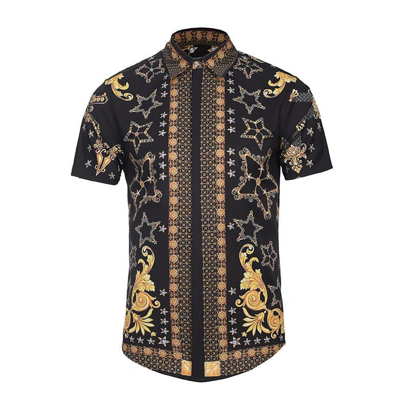 Baolong Heißer 2018 Männer Phantasie Shirts Luxus Marke Kurzarm Baumwolle Männer Kleid Shirts Casual Shirts Masculina Sozialen Marcas Online Shop Mutter & Kinder Mr