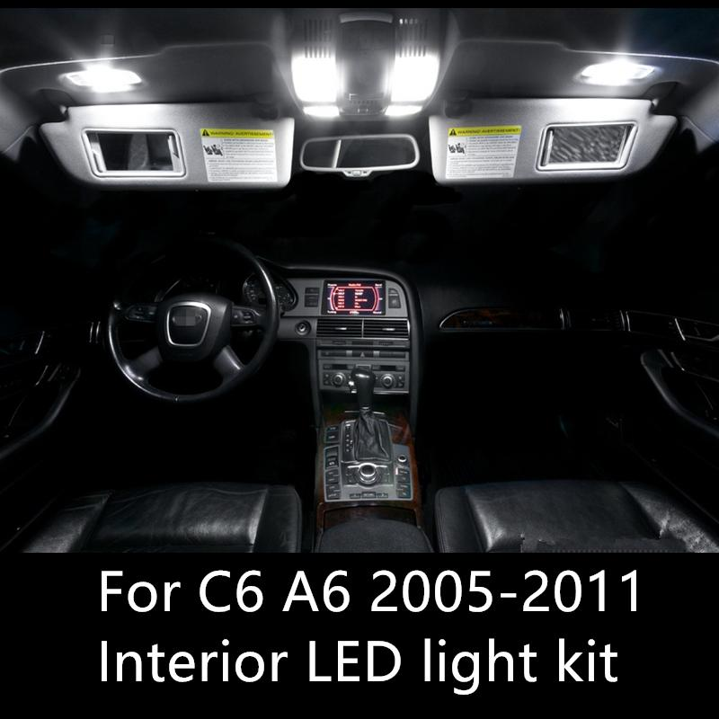 Charming 2019 Error Free Auto LED Bulbs Car Interior Lights Kit Dome Lamps For Audi  A6 C6 RS6 Accessories 2005 2011 LED Interior Light From Molls, $20.11 |  DHgate.