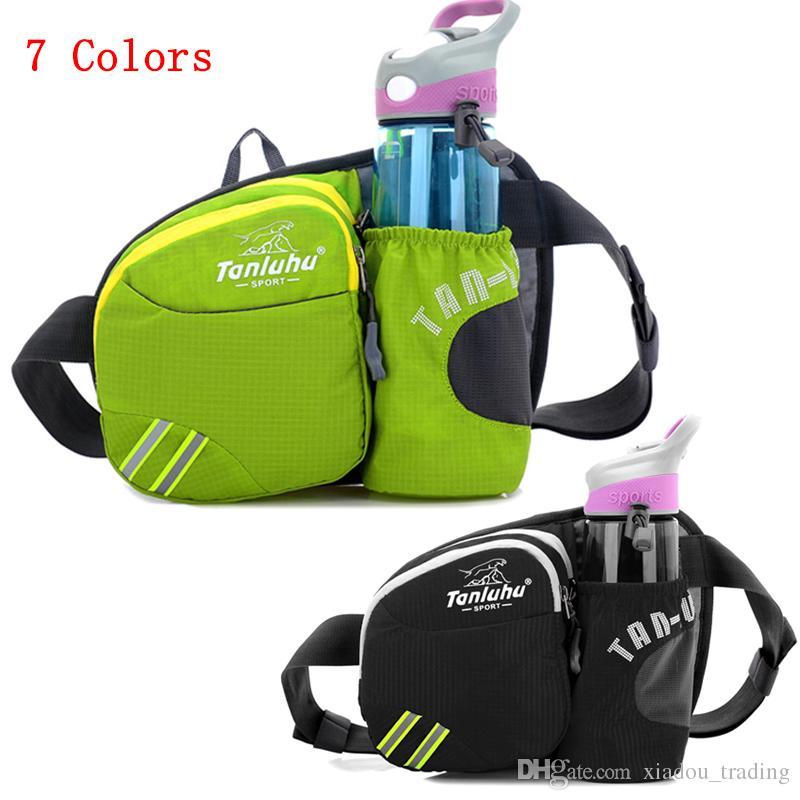 198ac558c3e1 Men Women Running Waist Bag Pack Outdoor Sports Fitness Jogging Running  Cycling Belt Bags with Water Bottles Holder