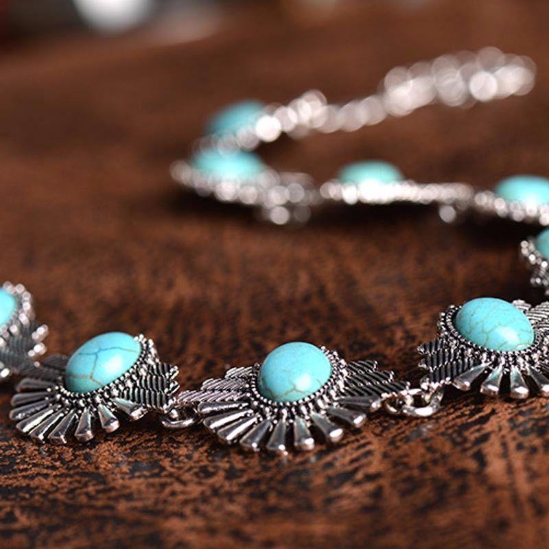 1937c522553d Compre Womens Hot Boho Collar Choker Moda Étnico Bohemio Beads Declaración  De Plata Collar Babero Joyería Para Las Mujeres A  1.59 Del Mixed