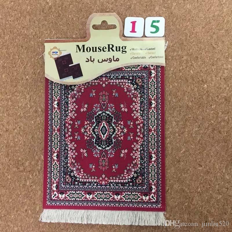 Middle East style 27*18CM Persian carpet mouse pad tea coaster mat wholesale for games and gifts