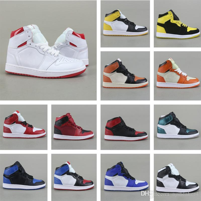 627b2f93385b 2018 New 1 Basketball Shoes OG Game Royal Banned Shadow Bred Toe Basketball  Shoes Men 1s Shattered Backboard Silver Medal Sneakers Girls Basketball  Shoes ...